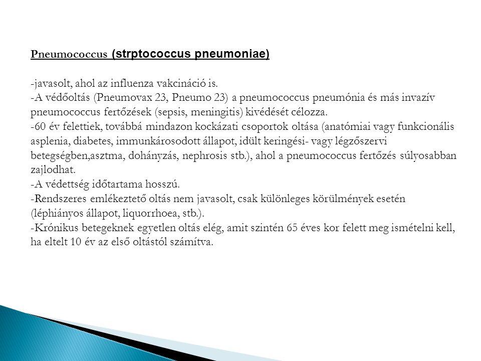 Pneumococcus (strptococcus pneumoniae)