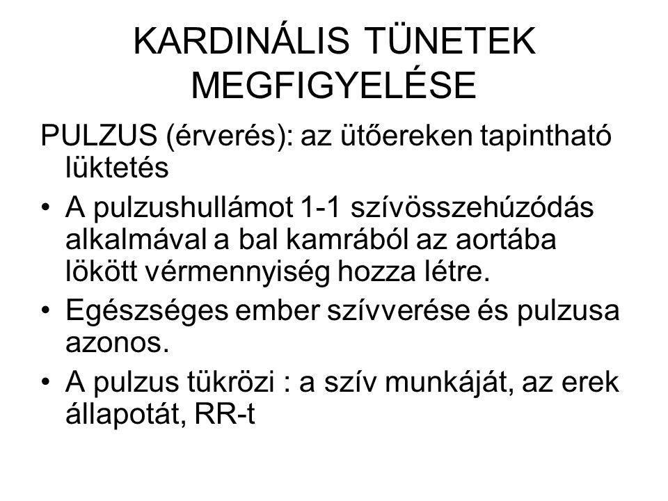 KARDINÁLIS TÜNETEK MEGFIGYELÉSE