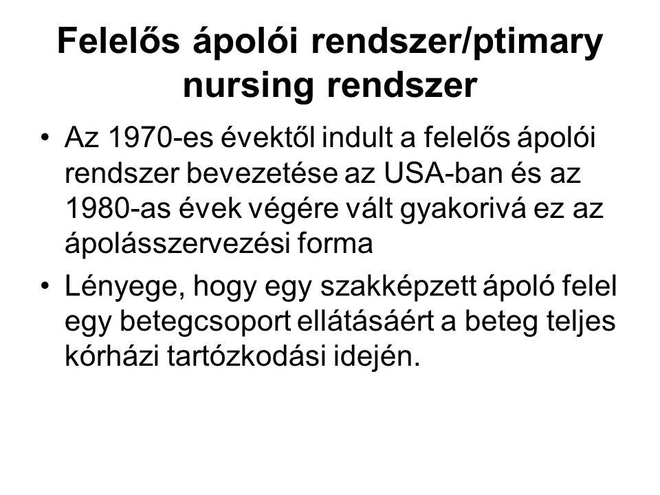 Felelős ápolói rendszer/ptimary nursing rendszer