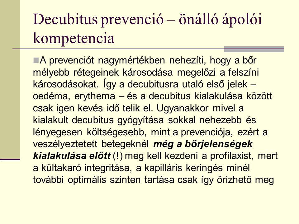 Decubitus prevenció – önálló ápolói kompetencia