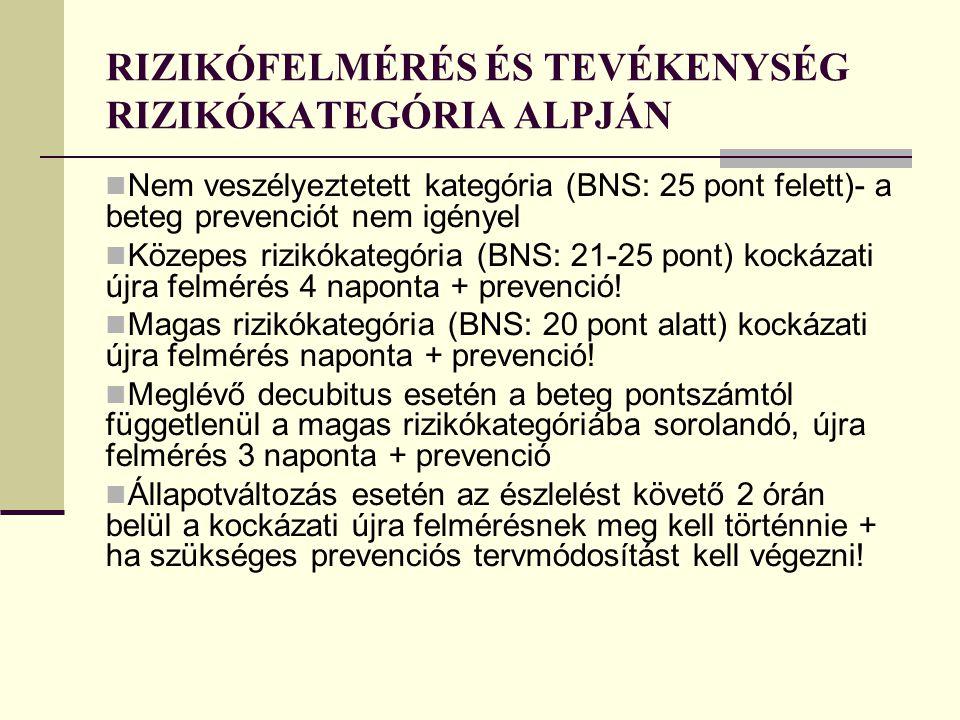 RIZIKÓFELMÉRÉS ÉS TEVÉKENYSÉG RIZIKÓKATEGÓRIA ALPJÁN