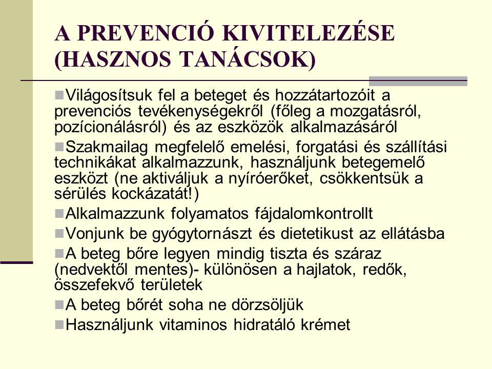A PREVENCIÓ KIVITELEZÉSE (HASZNOS TANÁCSOK)