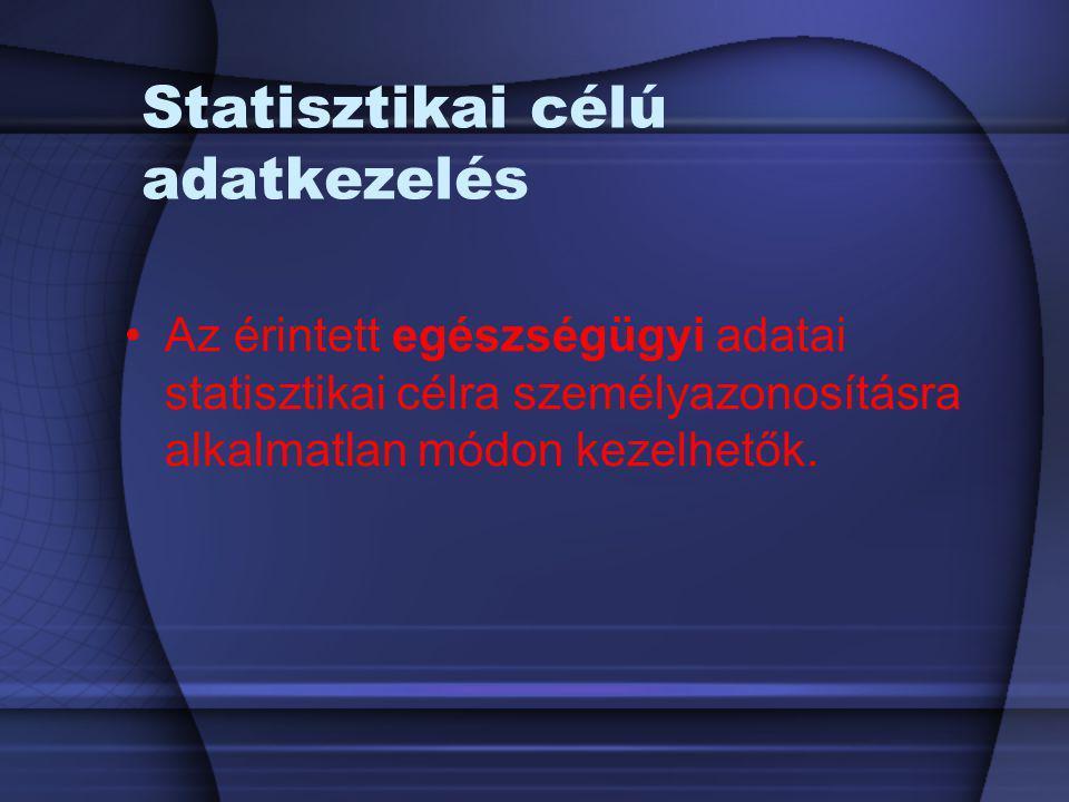 Statisztikai célú adatkezelés