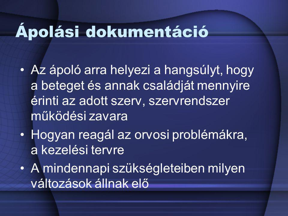 Ápolási dokumentáció