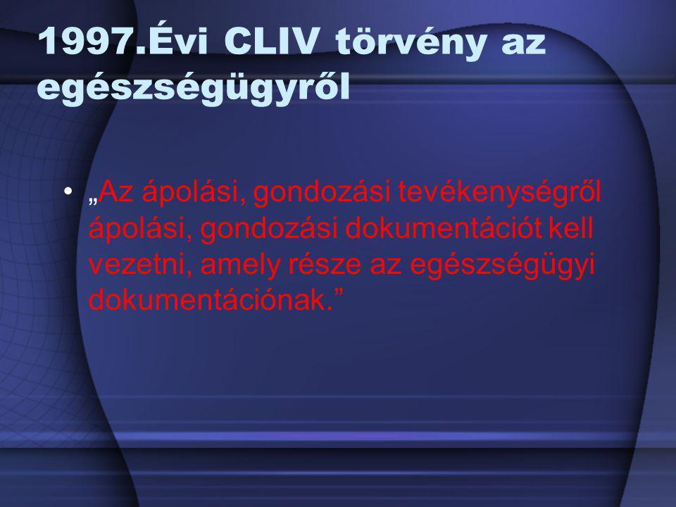 1997.Évi CLIV törvény az egészségügyről