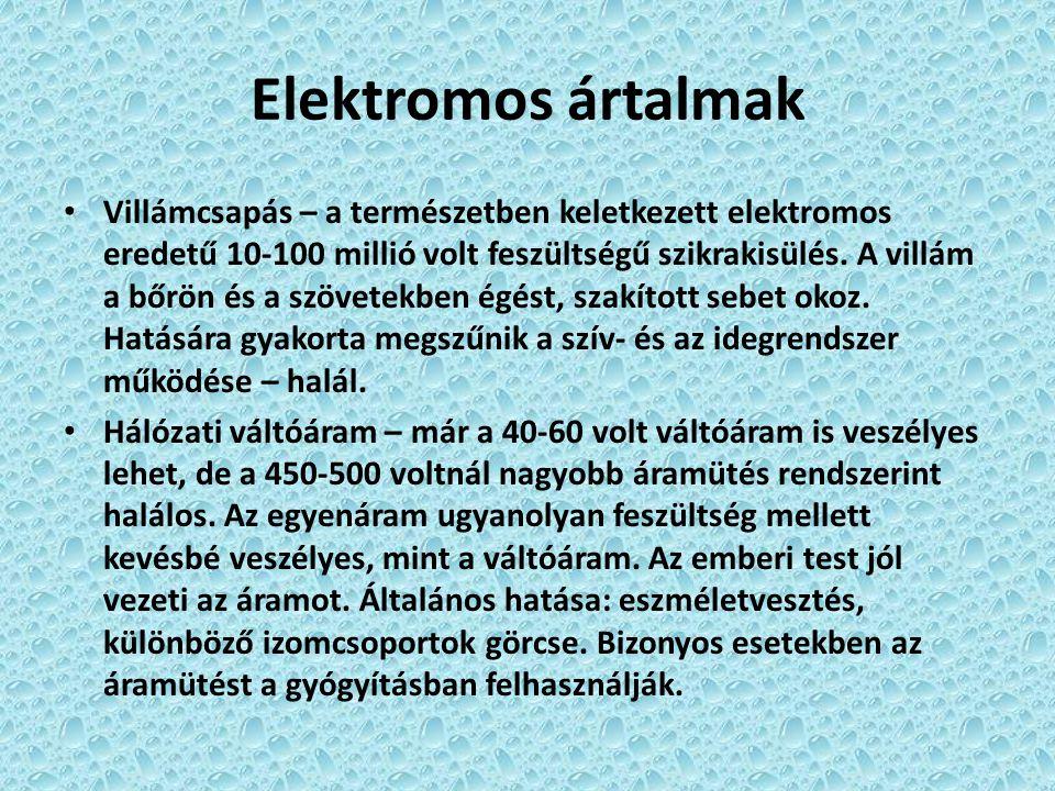 Elektromos ártalmak
