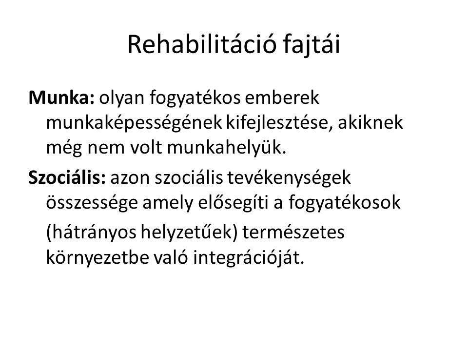 Rehabilitáció fajtái