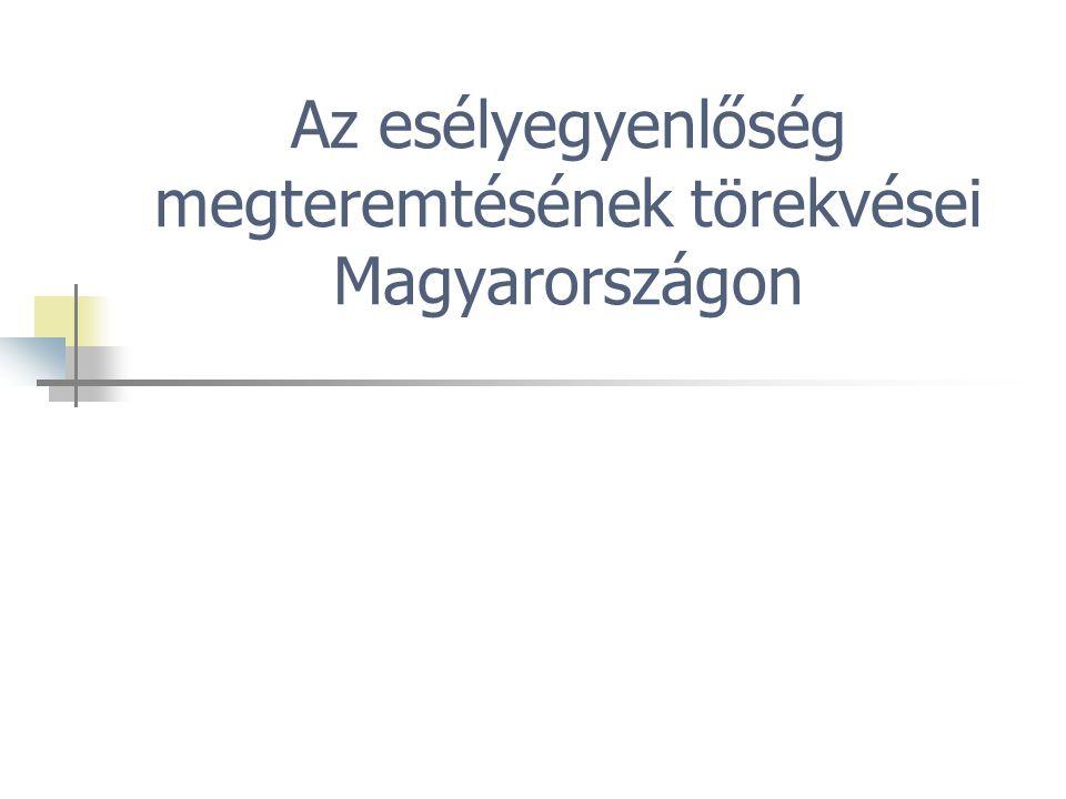 Az esélyegyenlőség megteremtésének törekvései Magyarországon