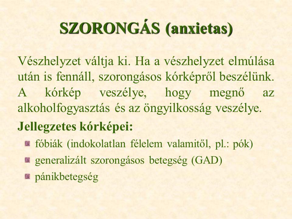 SZORONGÁS (anxietas)