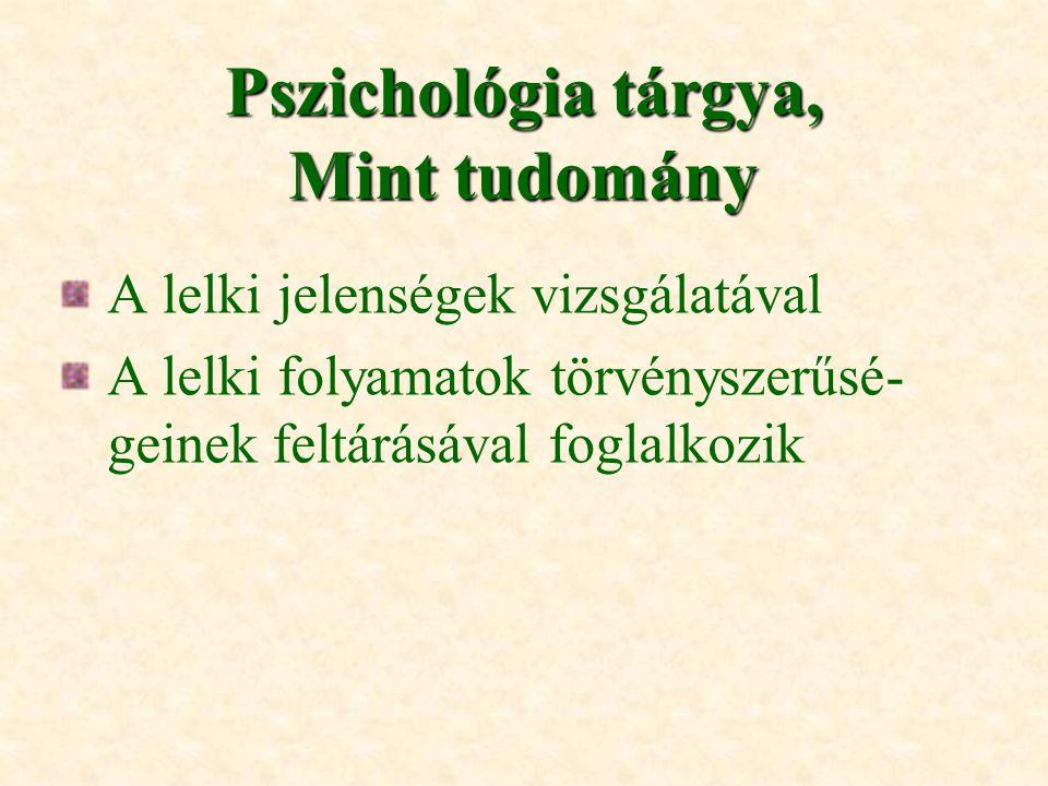Pszichológia tárgya, Mint tudomány