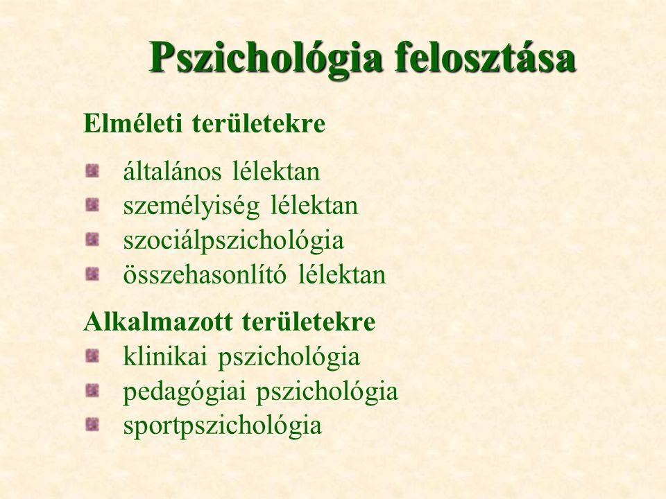 Pszichológia felosztása