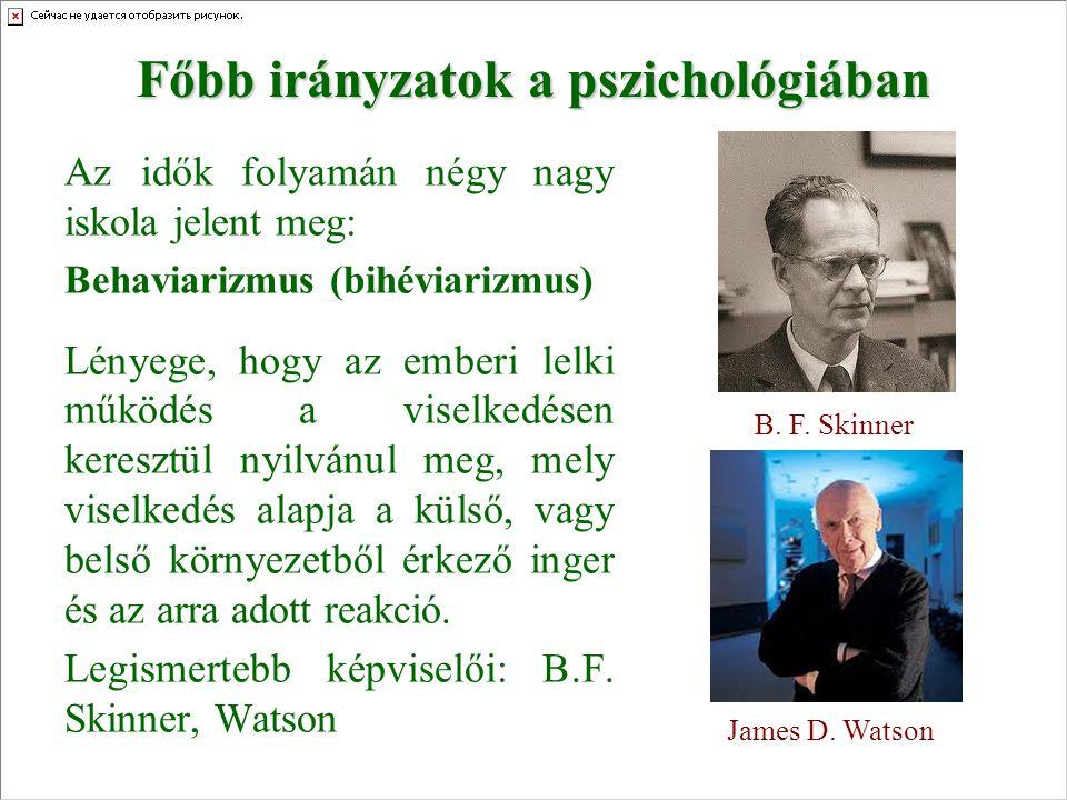 Főbb irányzatok a pszichológiában