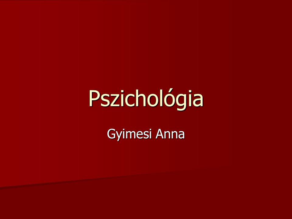Pszichológia Gyimesi Anna