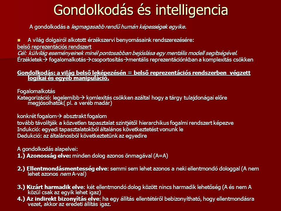 Gondolkodás és intelligencia