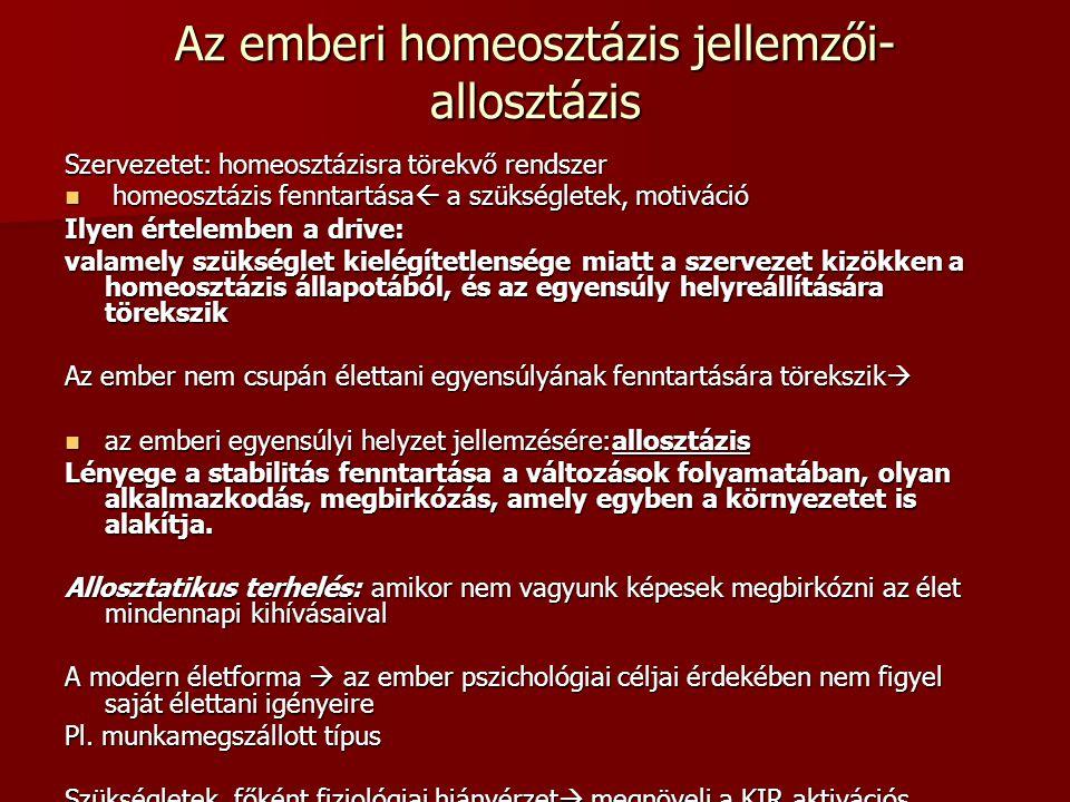 Az emberi homeosztázis jellemzői- allosztázis