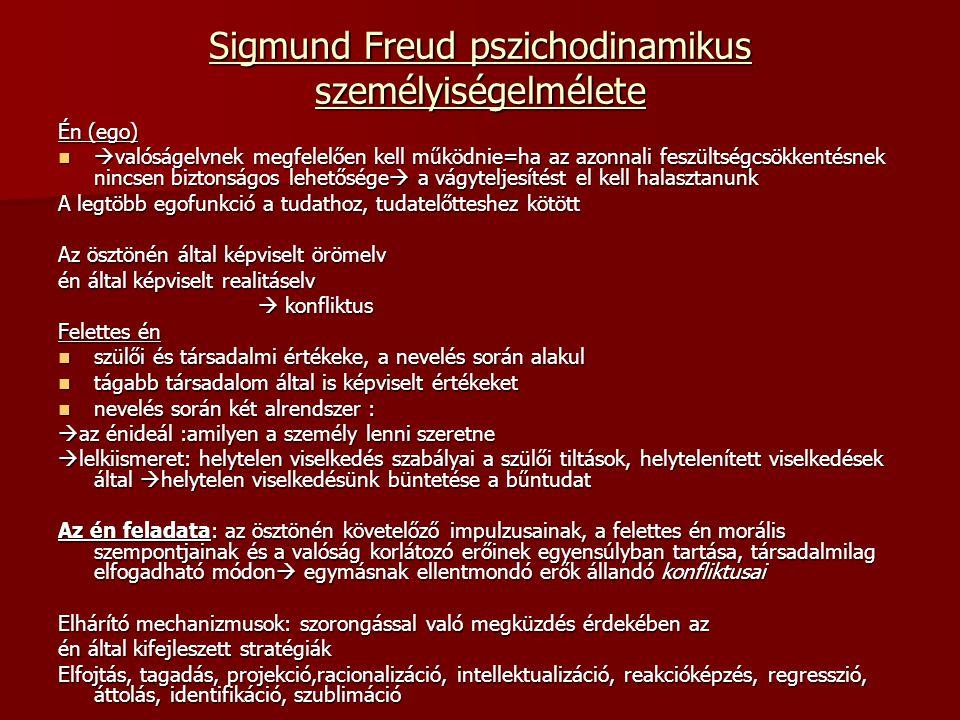 Sigmund Freud pszichodinamikus személyiségelmélete