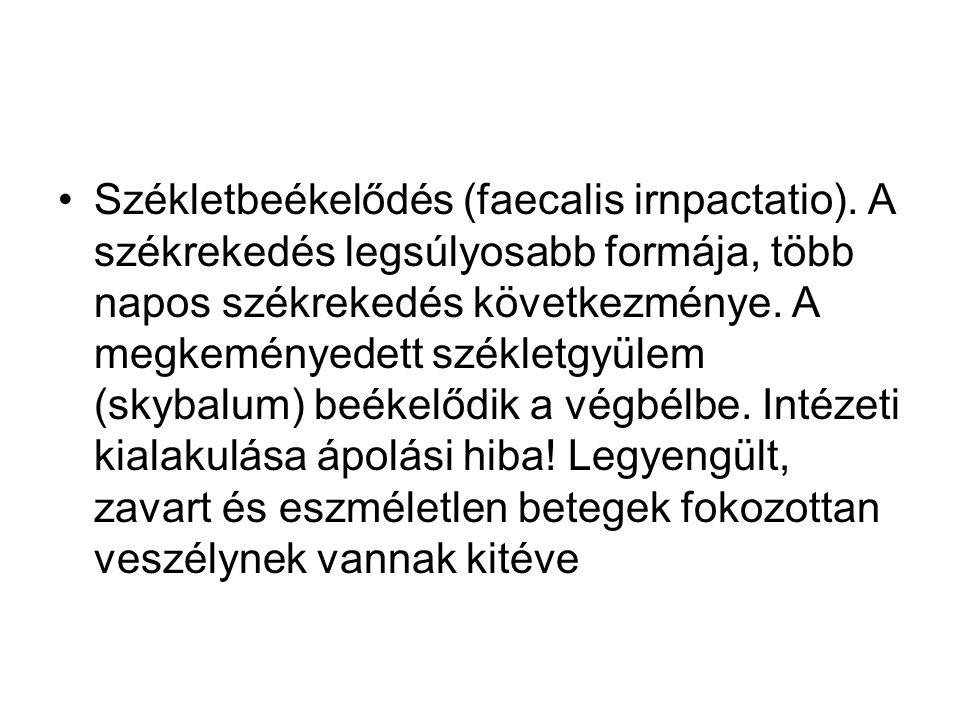 Székletbeékelődés (faecalis irnpactatio)