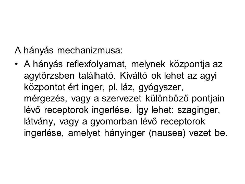 A hányás mechanizmusa: