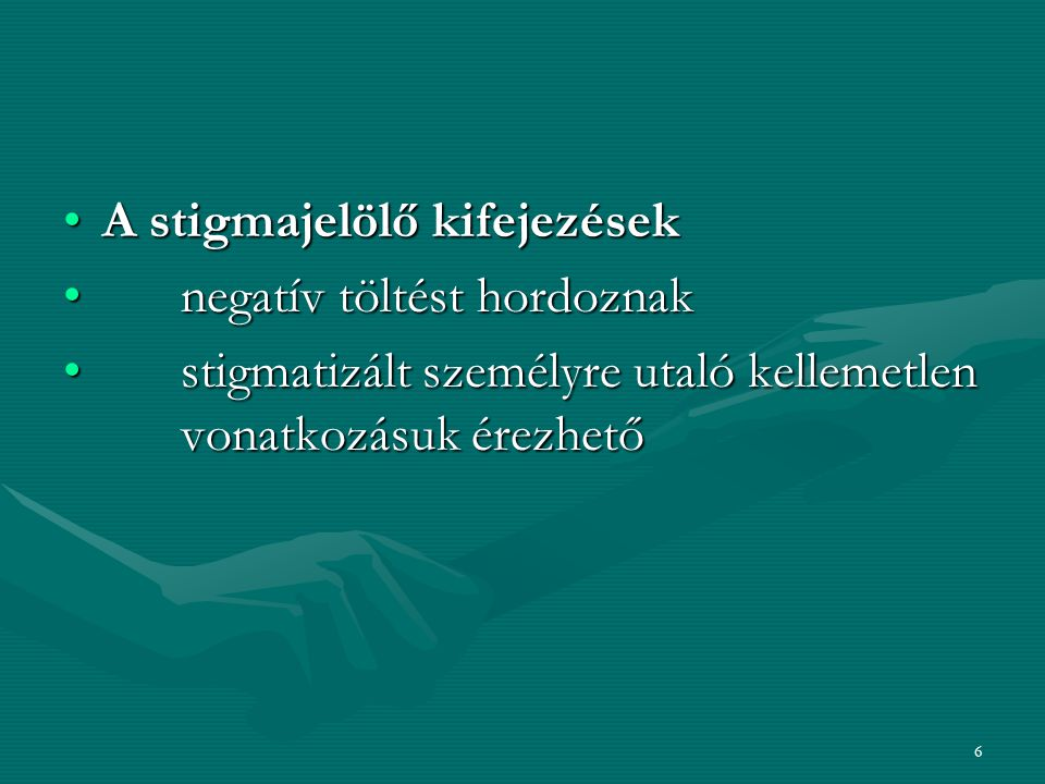 A stigmajelölő kifejezések