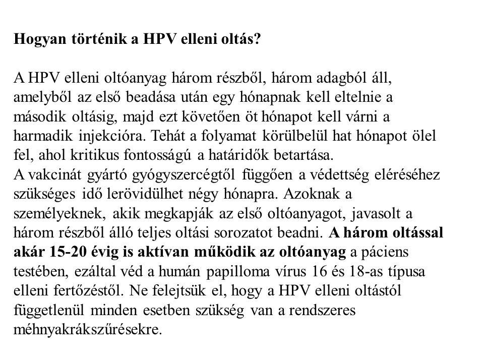 Hogyan történik a HPV elleni oltás