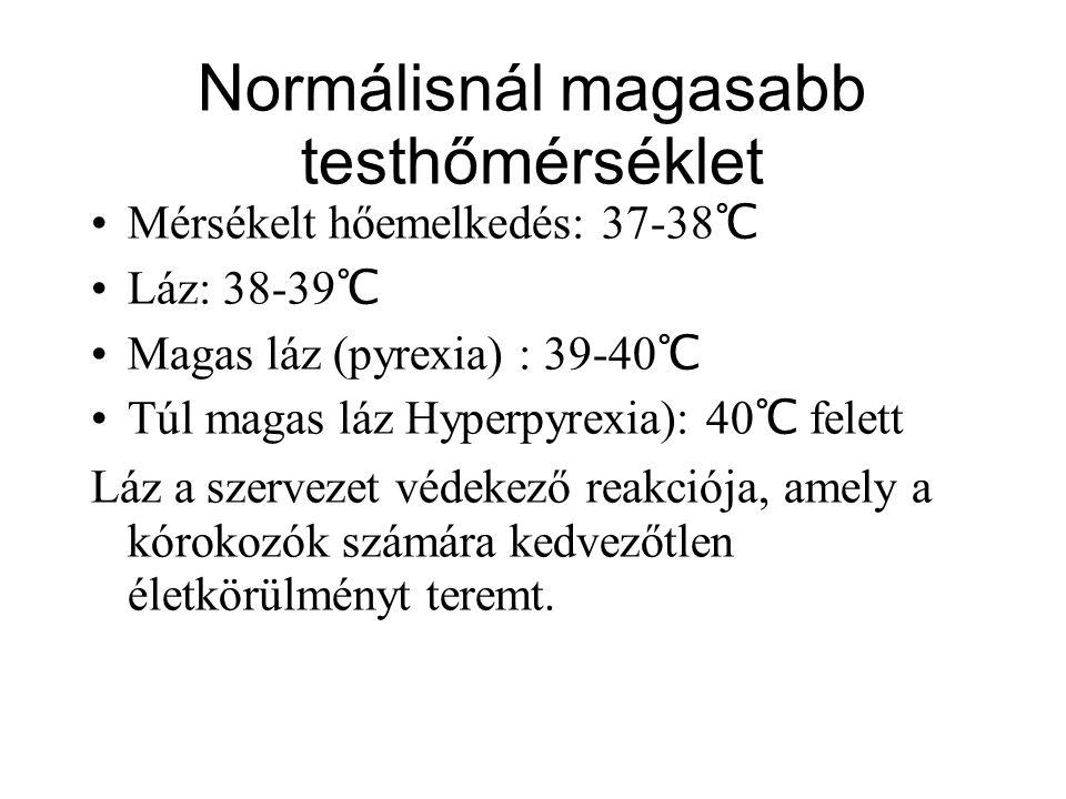 Normálisnál magasabb testhőmérséklet