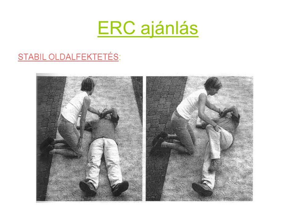 ERC ajánlás STABIL OLDALFEKTETÉS: