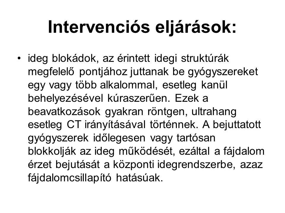 Intervenciós eljárások: