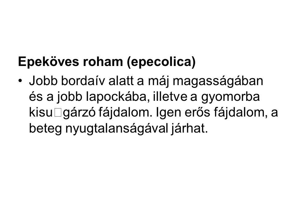 Epeköves roham (epecolica)
