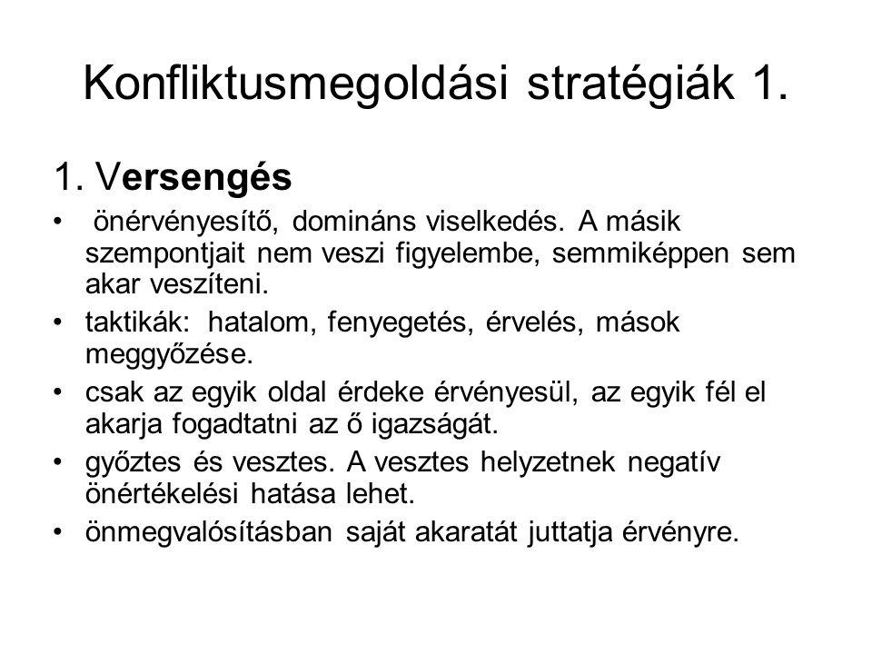 Konfliktusmegoldási stratégiák 1.