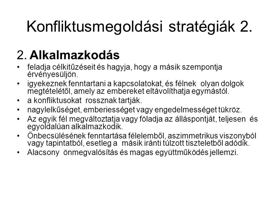 Konfliktusmegoldási stratégiák 2.