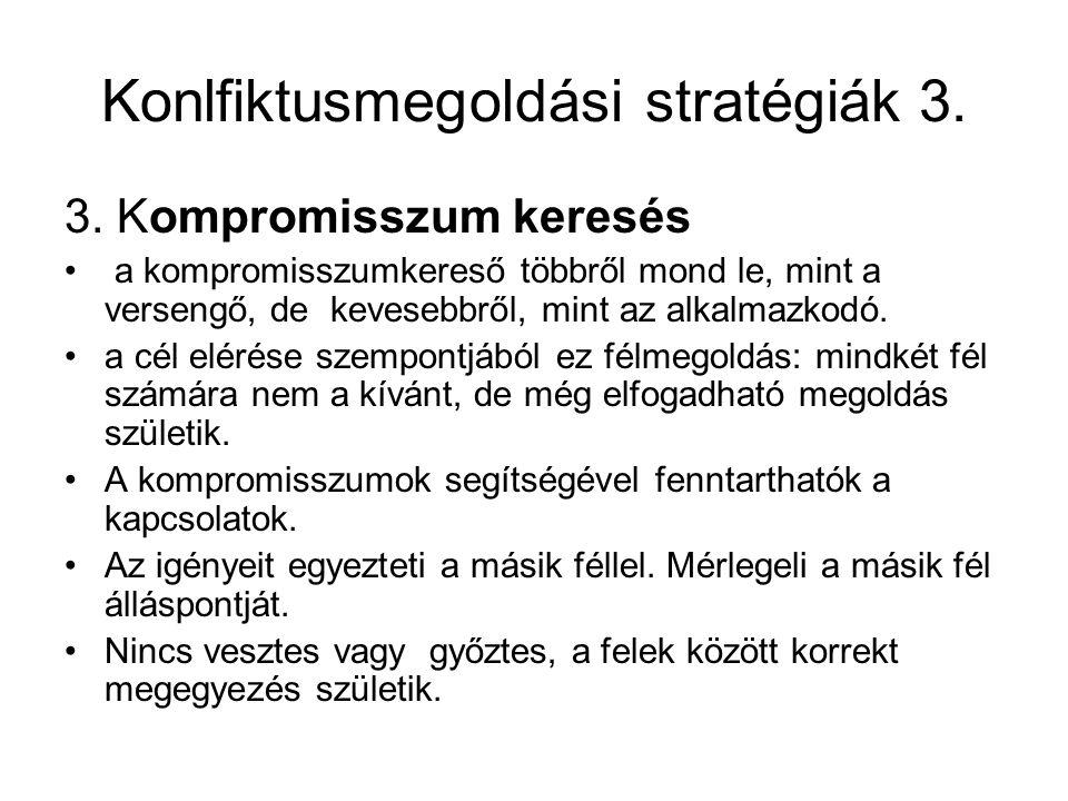 Konlfiktusmegoldási stratégiák 3.