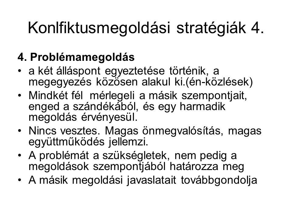 Konlfiktusmegoldási stratégiák 4.