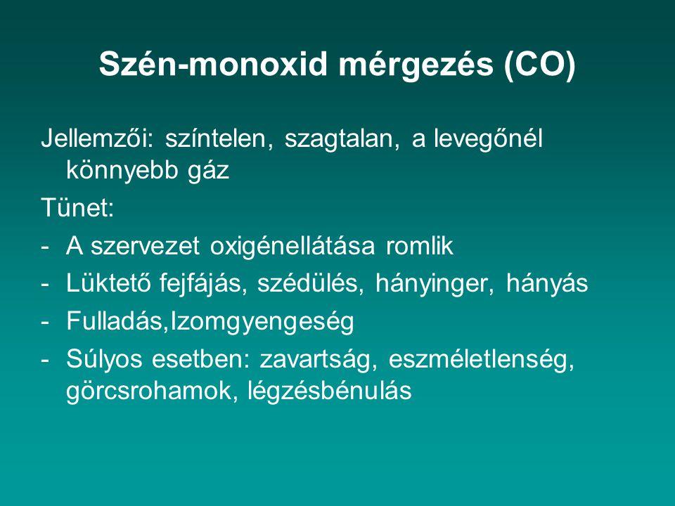 Szén-monoxid mérgezés (CO)