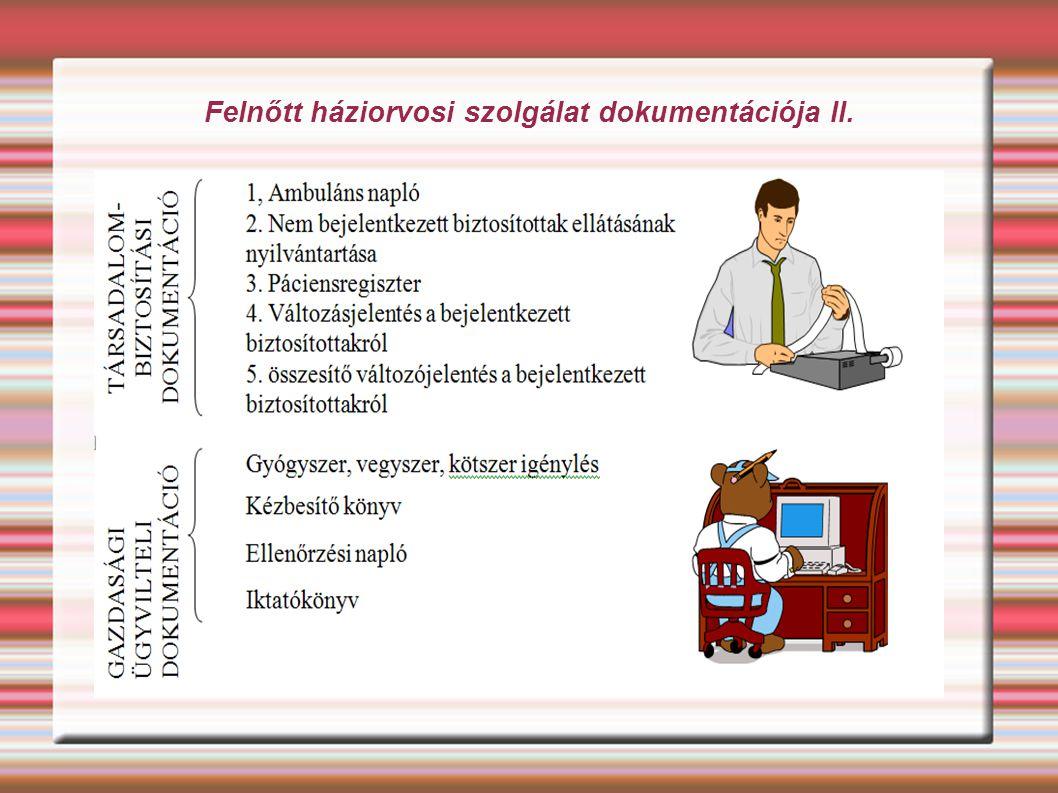 Felnőtt háziorvosi szolgálat dokumentációja II.