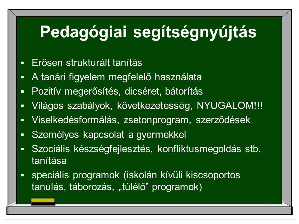 Pedagógiai segítségnyújtás