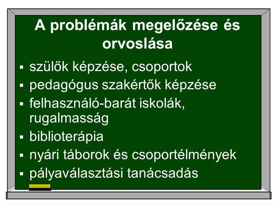 A problémák megelőzése és orvoslása
