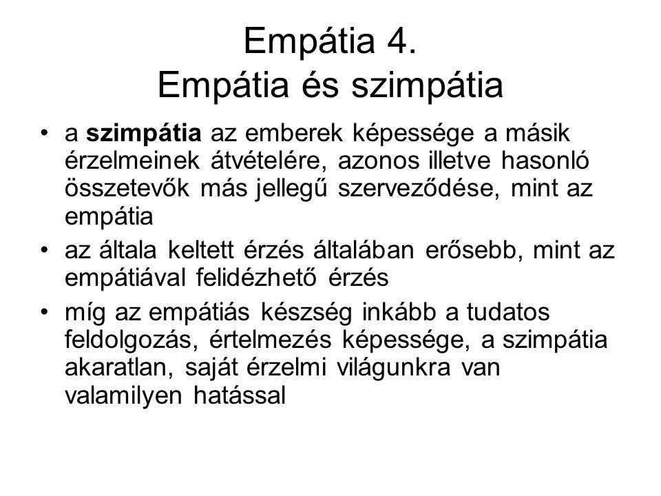 Empátia 4. Empátia és szimpátia