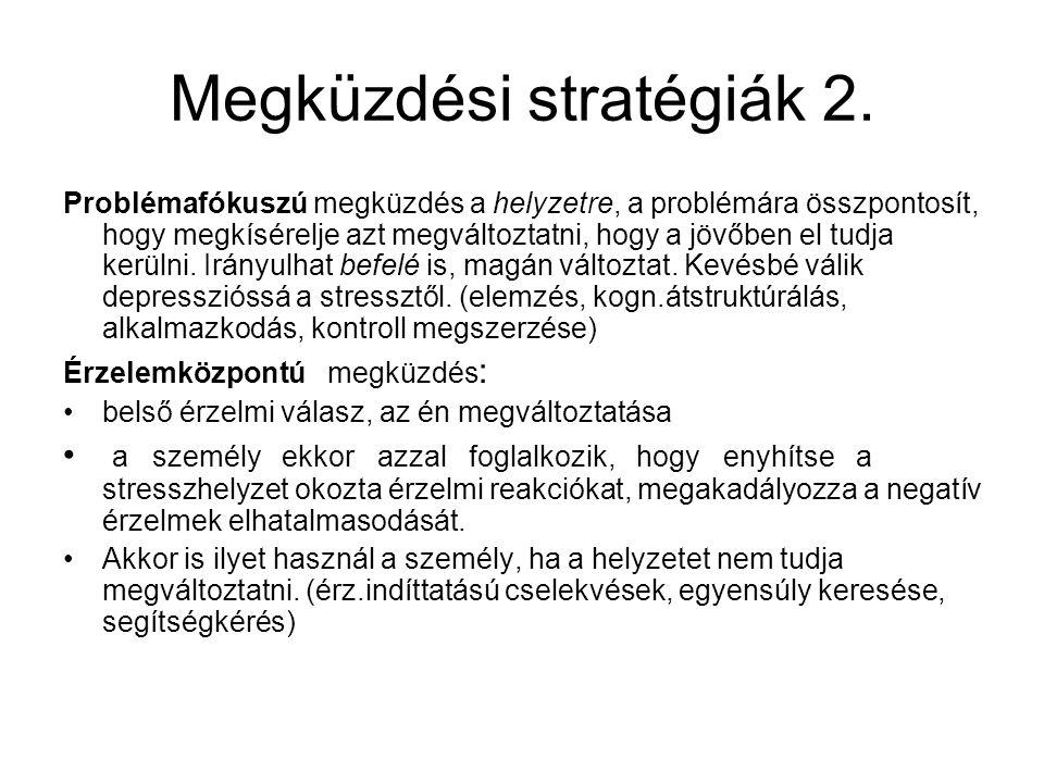 Megküzdési stratégiák 2.