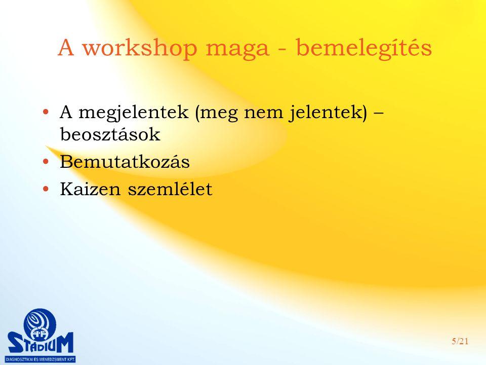 A workshop maga - bemelegítés