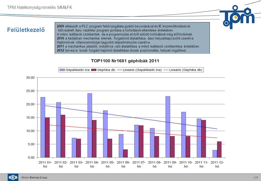 Felületkezelő TPM Hatékonyság növelés MM&FK