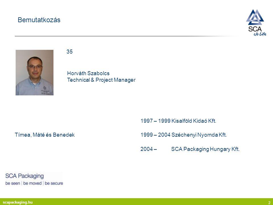 Bemutatkozás 35 Horváth Szabolcs Technical & Project Manager