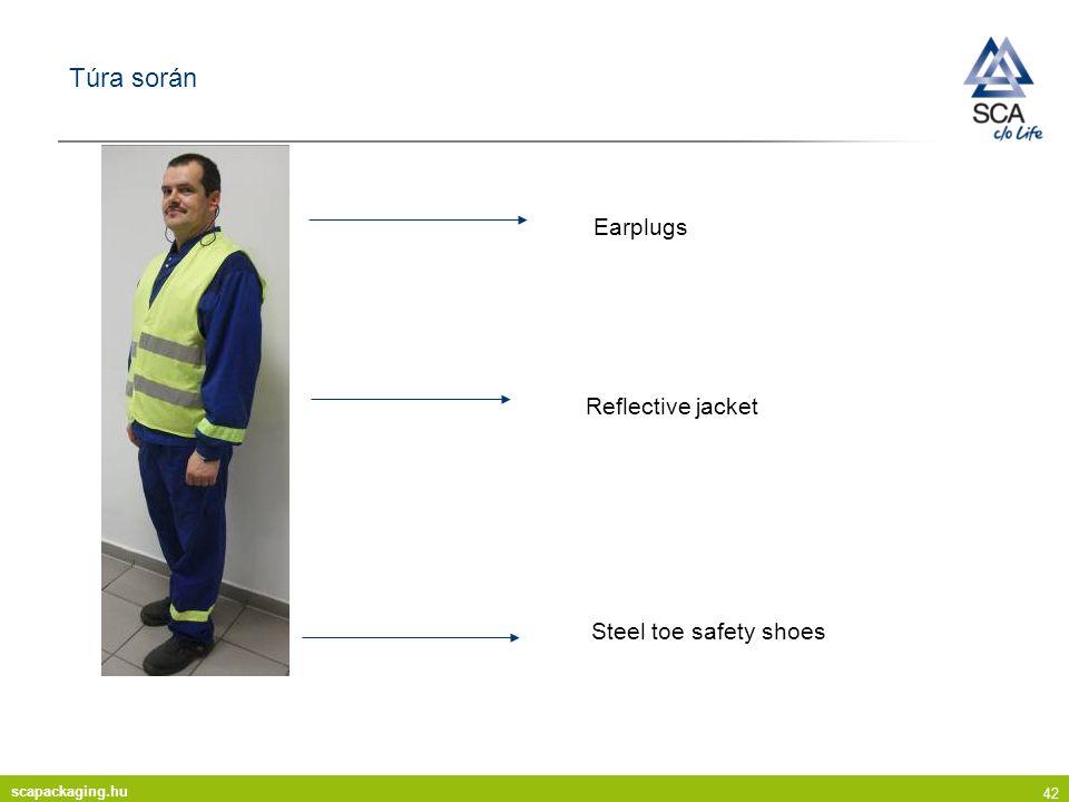 Túra során Earplugs Reflective jacket Steel toe safety shoes