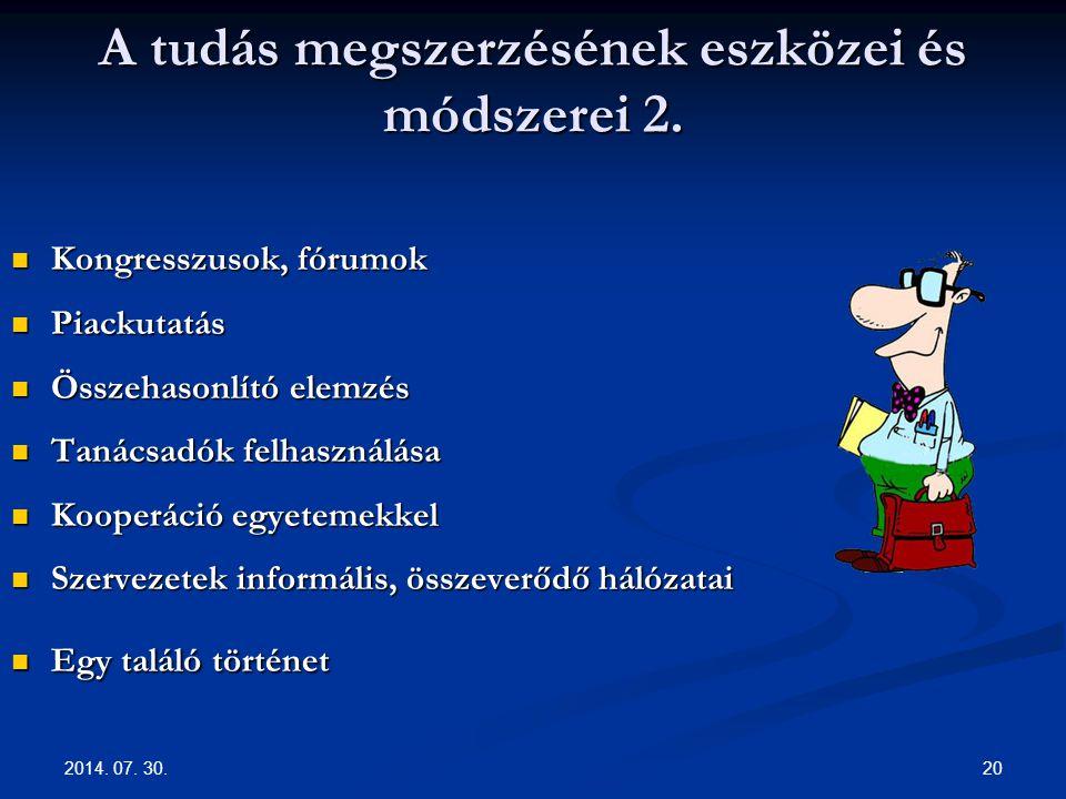 A tudás megszerzésének eszközei és módszerei 2.