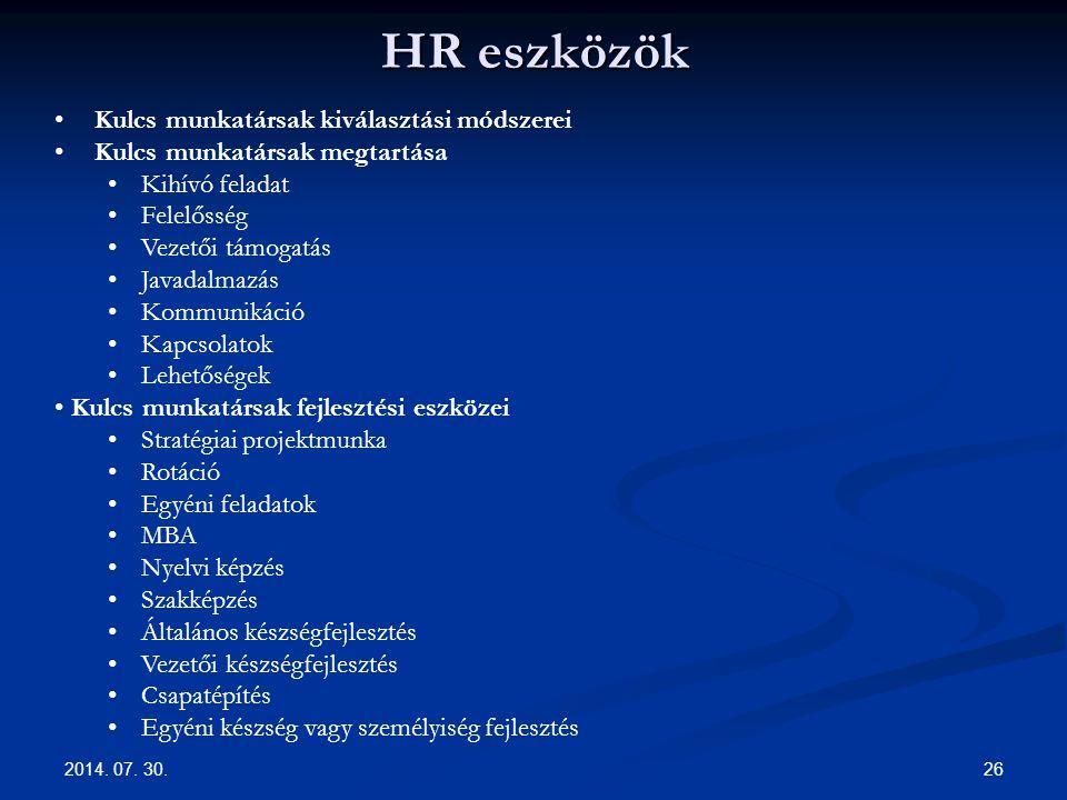 HR eszközök Kulcs munkatársak kiválasztási módszerei