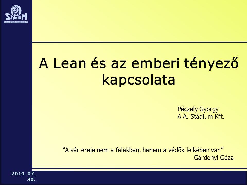 A Lean és az emberi tényező kapcsolata