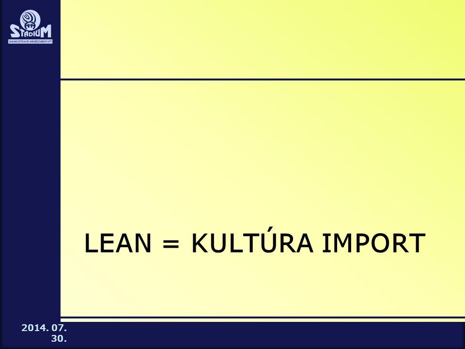 Lean = kultúra import