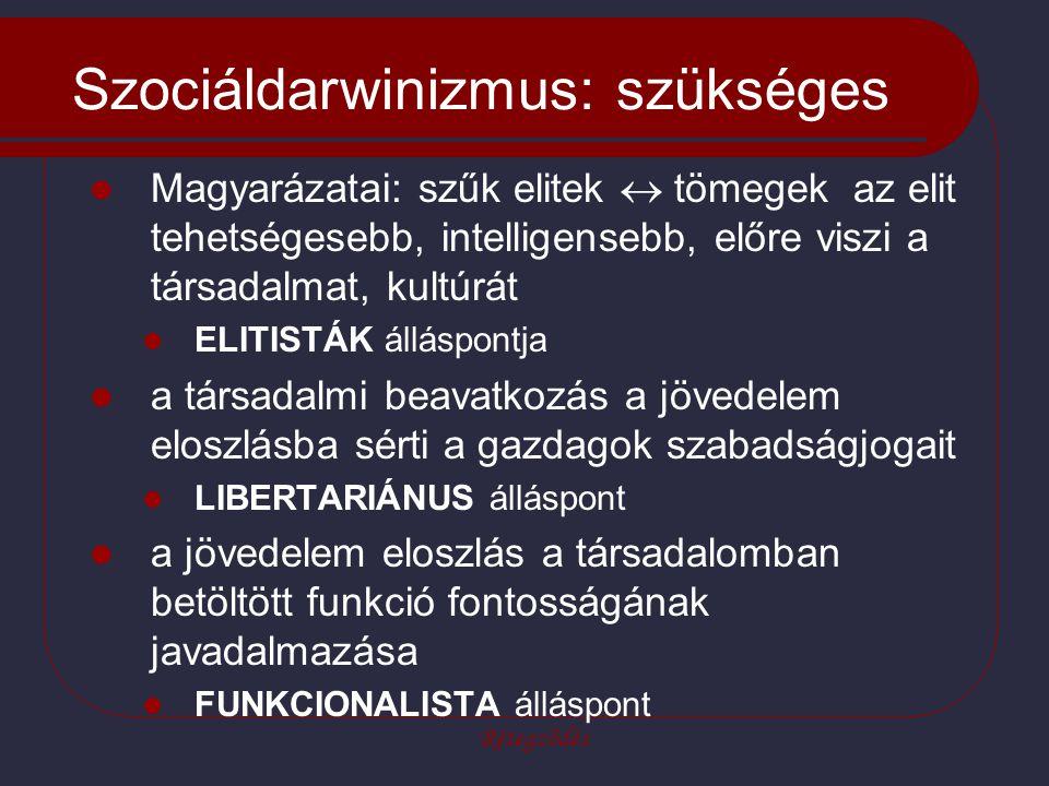 Szociáldarwinizmus: szükséges