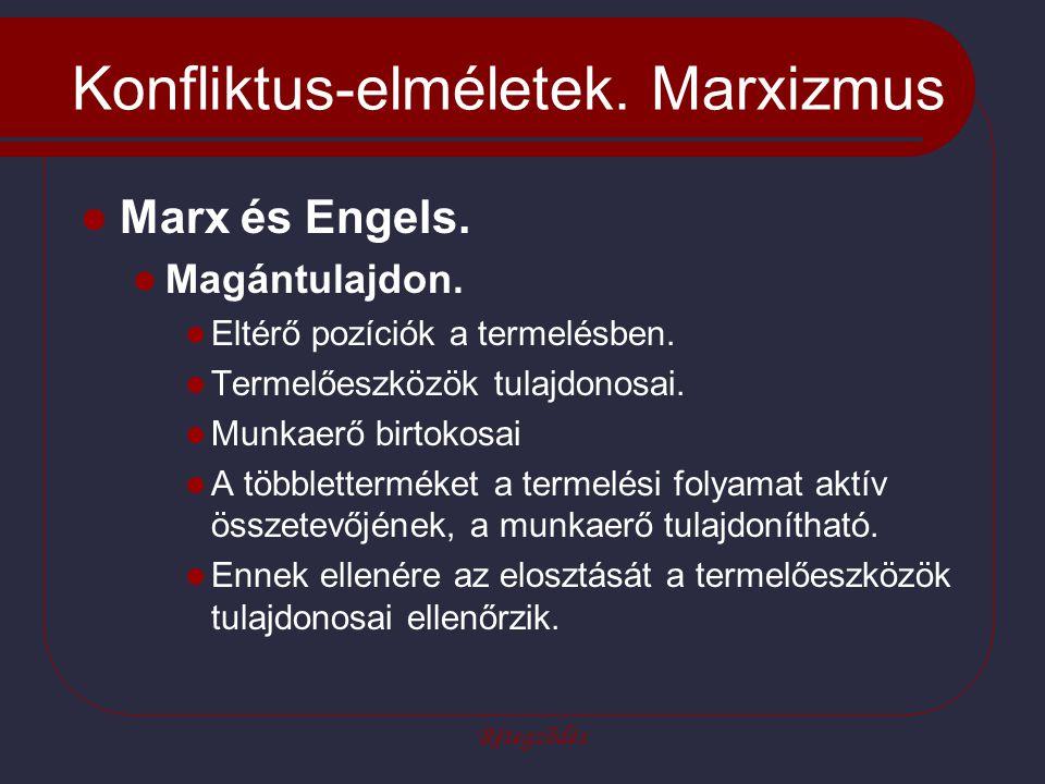 Konfliktus-elméletek. Marxizmus