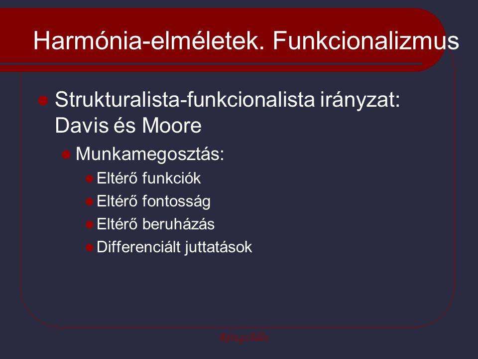 Harmónia-elméletek. Funkcionalizmus