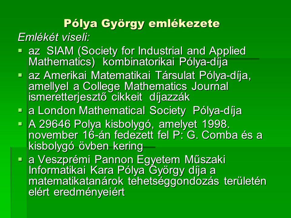 Pólya György emlékezete